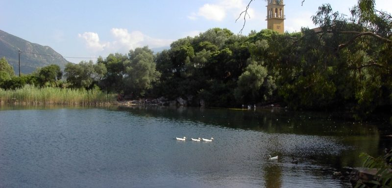Karavomylos Lake in Kefalonia