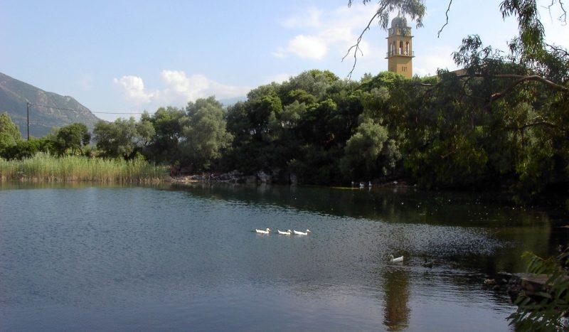 Karavomylos Lake in Kefalonia