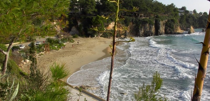 Platis Gyalos beach in Argostoli Kefalonia