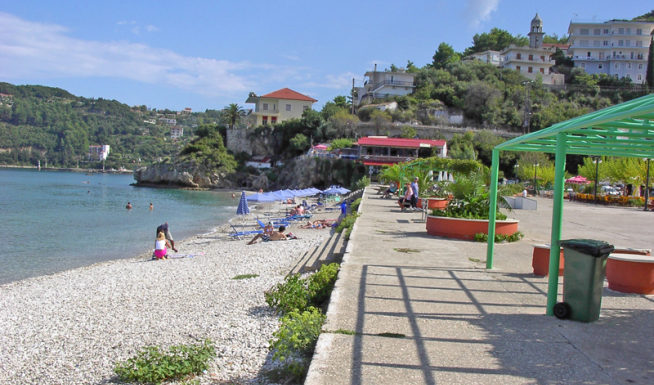 Poros beach in Poros Kefalonia