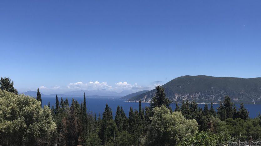Panoramic corner plot in Fiscardo area for sale