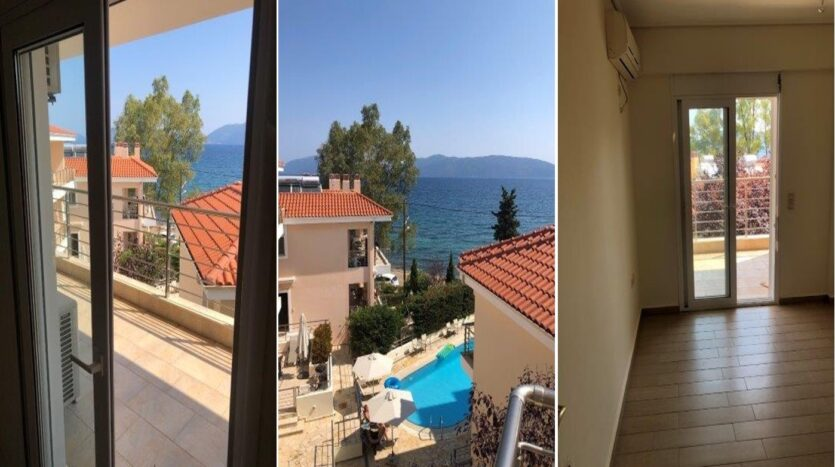 Karavomylos sea front studio for sale